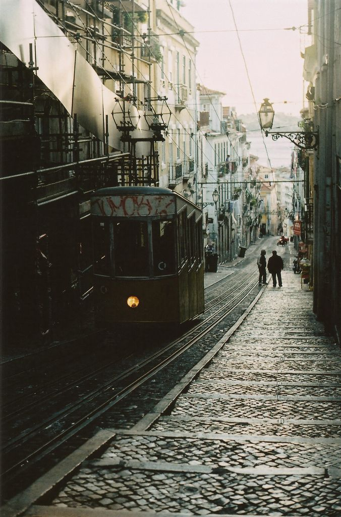 It's a long way down. Lisbon, Portugal