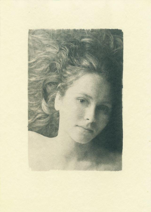 полуавтопортрет, cyanotype