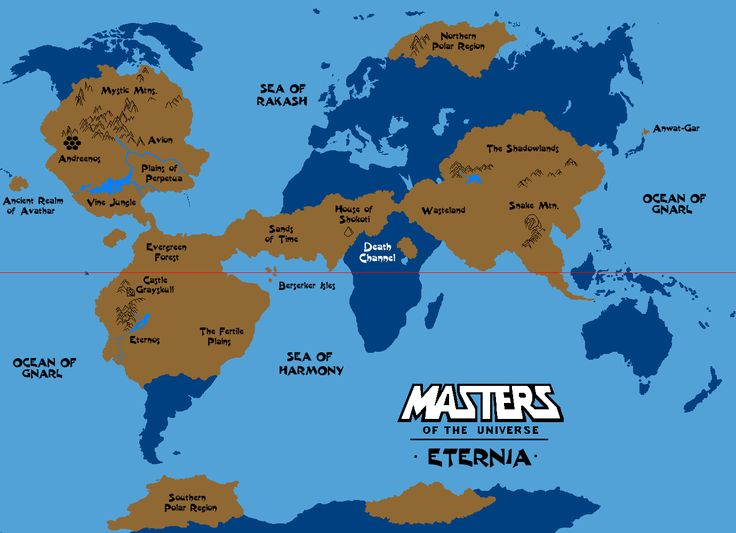 Eternia Comparison Map by Grimklokdeviantartcom on DeviantArt