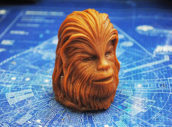 Handmade Large 3D Chewbacca Chewie Soap  Star Wars by NerdySoap
