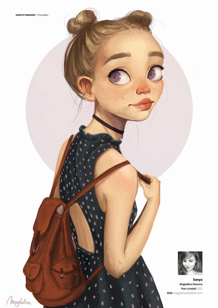 Magdalina Dianova shares this beautiful character in this months Gallery   https://shop.3dtotal.com/magazines/2dartist-magazine/2dartist-issue-120-dec-2015-download-only.html