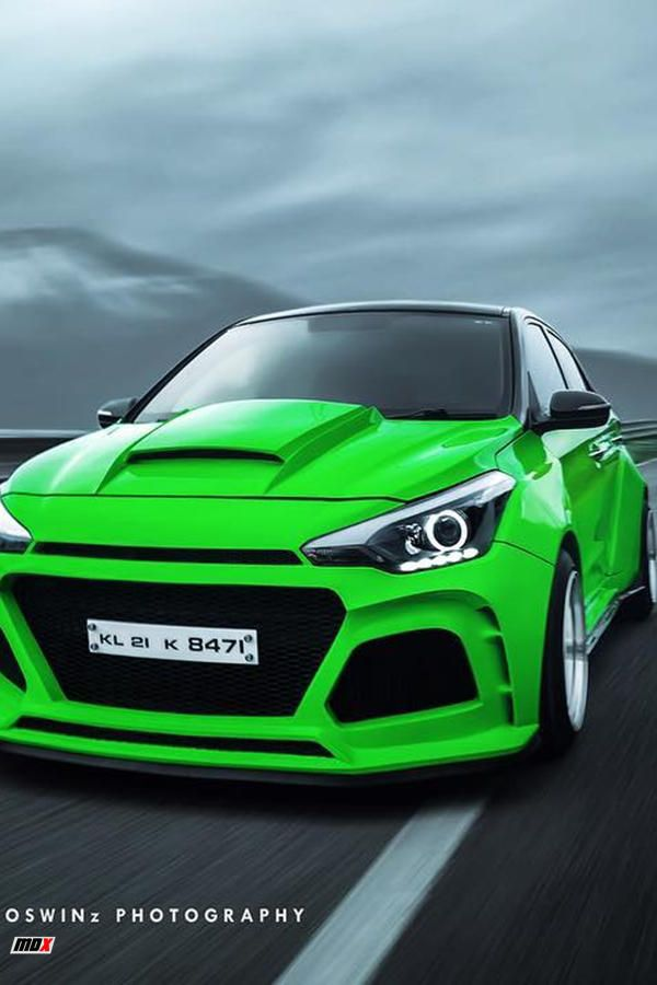 Hyundai Veloster Wide Body Kit : hyundai, veloster, Hyundai, Custom, Green, ModifiedX, Kits,, Hyundai,