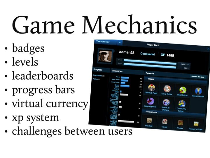 3D GameLab - a nice learning system where students learn by earning digital badges and leveling up