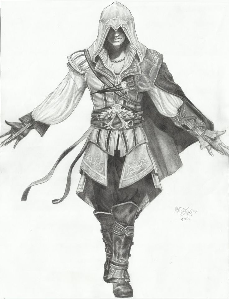 assasins creed pencil Drawings | Assassin's Creed II - Ezio Auditore da Firenze by Lice-chan