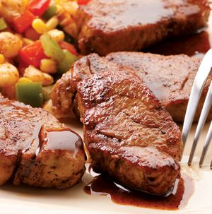 Pork medallions are a nice alternative to pork chops. Simply slice a tenderloin into 1-inch-thick pieces, rub with a spices and you're halfway to a delicious dinner. Serve Maple-Chili Glazed Pork Medallions with steamed veggies and crusty rolls.