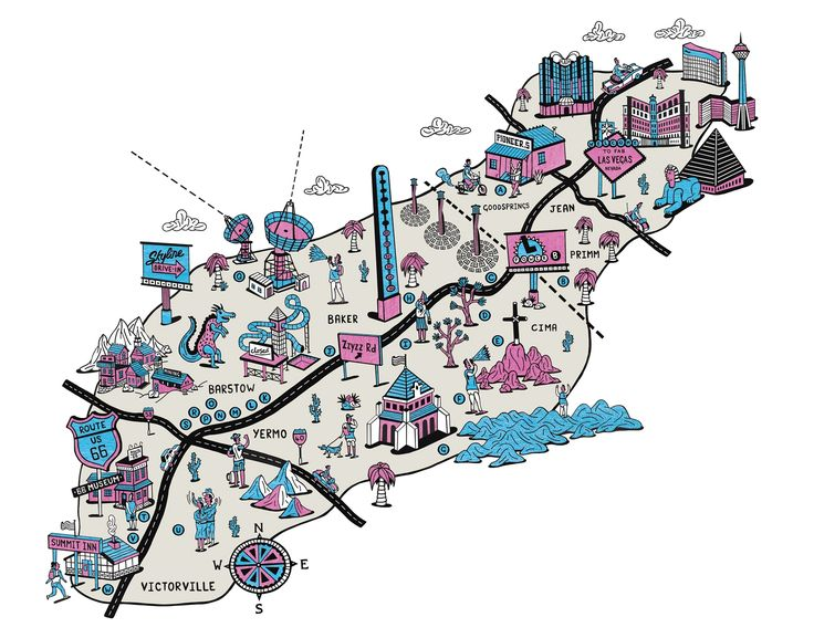 Phil Wrigglesworth A Map Of All The Weird And Beautiful Things To Find Along Route