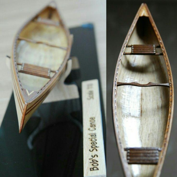 Canoe scale model