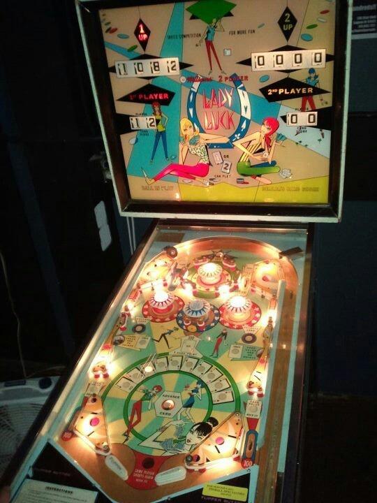 Vintage Arcade Games >> Lady Luck Vintage Pinball @Blairally | Barware- Machines: Games | Pinterest | Pinball
