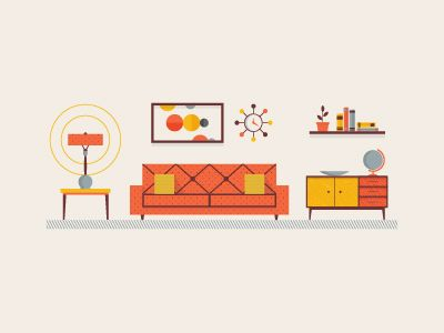 Mid Century Living Room by Andrew Willoughby