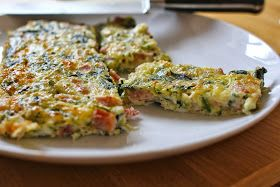 Ham, Spinach and Courgette Frittata