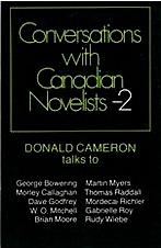 Donald Cameron talks with Canadian novelists... including me.