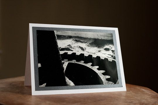 Photography Greeting Card Blank 5 x 7 Grain Mill Gear $5.00