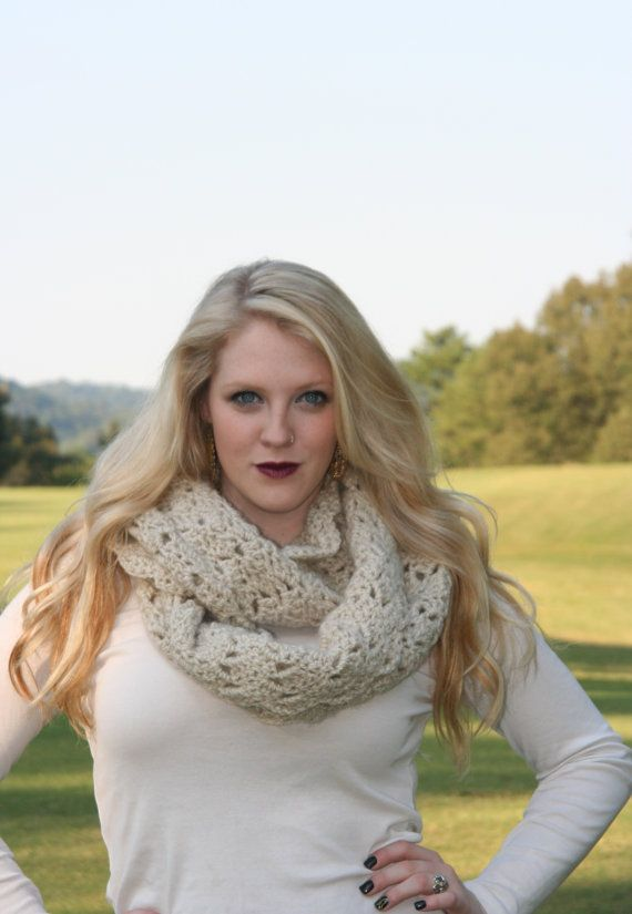 Infinity Scarf Crochet Cowl Scarf / The Couesnon by crochetgallery, $36.00