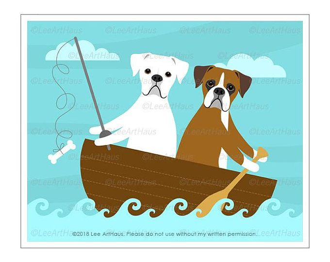 477d Dog Print White And Brown Boxer Dogs In Bubble Bath Wall