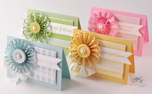 rosettes made with different border punches