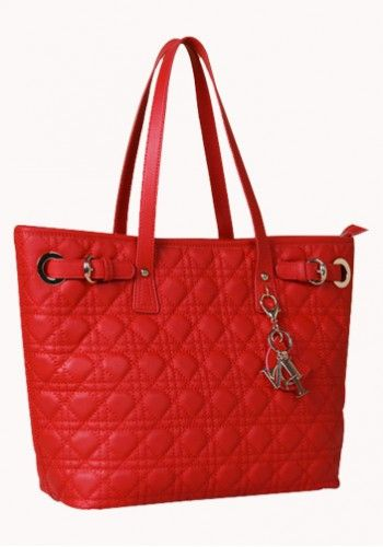 Milla Quilted Tote in Red http://www.contempobags.com/milla-quilted-tote/