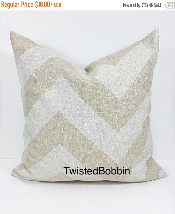 SALE BEIGE PILLOW Cover.Oatmeal. pillow by TwistedBobbinDesigns