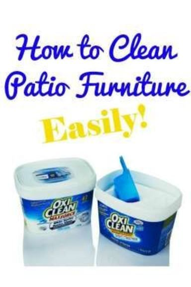 How to Clean Patio Furniture  - 3 steps to get your patio furniture looking a 100x better!