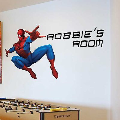 Any Name #spiderman Personalised Wall #sticker Boys Bedroom Art Kids # Nursery, View Part 91