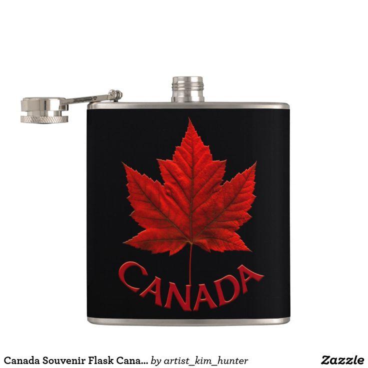 Canada Souvenir Flask Canada Flag Drink Flask Gift