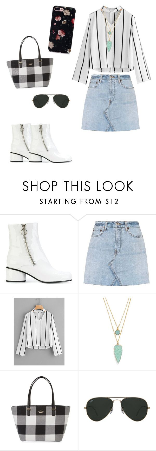 """""""Semi formal wear"""" by shreyaroy994 ❤ liked on Polyvore featuring Marc Jacobs, RE/DONE, BaubleBar, Kate Spade and Ray-Ban"""