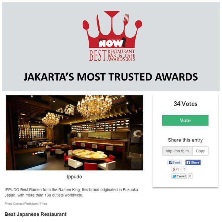 Give your vote for Ippudo for The Best Japanese Restaurant on #BRBCA2015! #Jakarta #NOWJakarta #LifeinTheCapital #BRBCA #Best #Restaurant #Japanese #Category #Awards #Events #JKTEvent #Lunch #Brunch #Dine #Dinner #Ippudo #Indonesia #IppudoIndonesia #IppudoJKT #IppudoIDN #IppudoJakarta #IppudoID