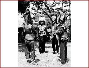 Men from the court of Bima Sumbawa isle - Nusa Tenggara