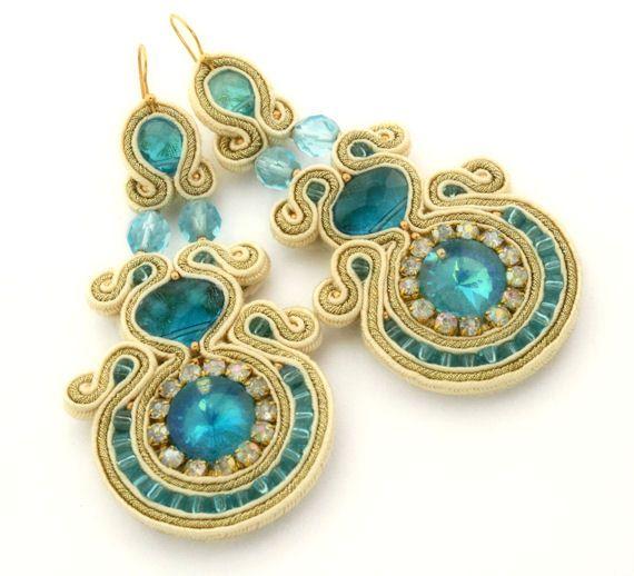 Sunny morning   soutache earrings  free shipping by KimimilaArt