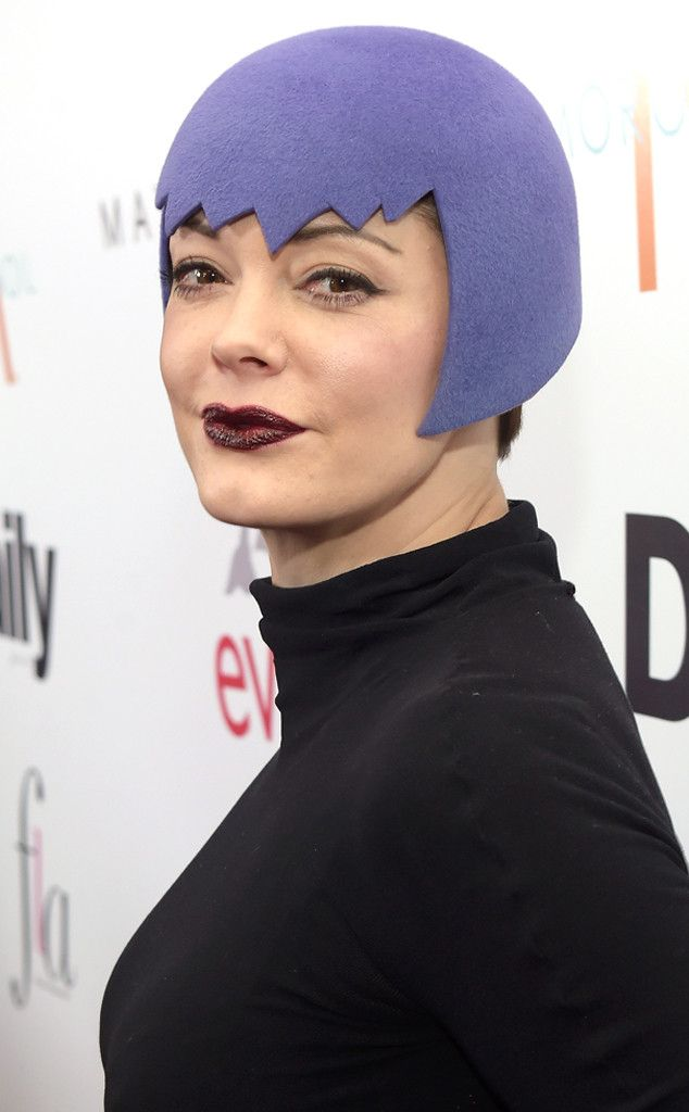 "Rose McGowan Turns Heads in ""1930s Vulcan"" Hat!  Rose McGowan"