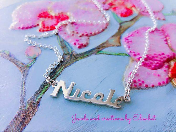 #name #silver #necklace #namenecklace
