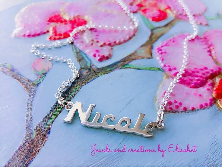 #name #silver #necklace #namenecklace