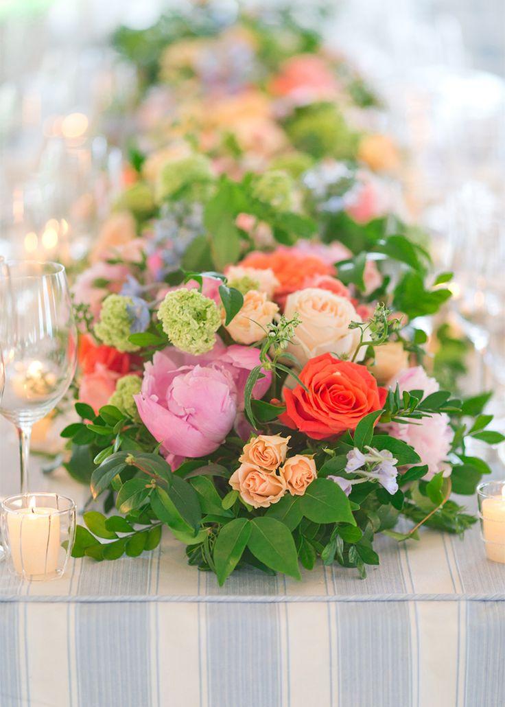 Long Table Floral Arrangement