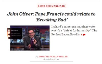 What John Oliver thinks Pope Francis and Walter White have in common