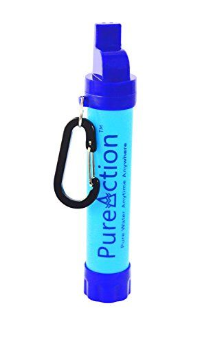 PureAction Camping Water Filter Outdoor Store [gallery]  Imagine what happens when you ran out of water? Could you live on without pure water?   PureAction is the Answer. Survival Water Filter Straw – a 'Will have to Have' tool in your Survival/Emergency preparation and your personal Camping Water Filtration System weighs less than 3 ounces!   Safe and Effective:   – Backed ... https://campgear.co/shop/camping-gear/pureaction-camping-water-filter/