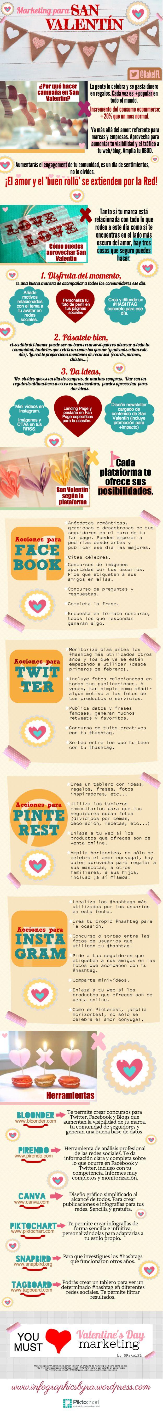 Hola: Una infografía sobre Marketing para San Valentín. Vía Un saludo