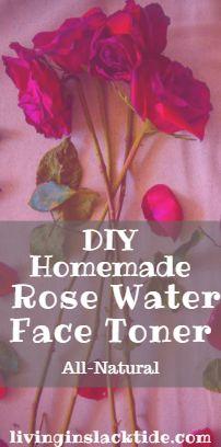 DIY Homemade Rose Water Face Toner
