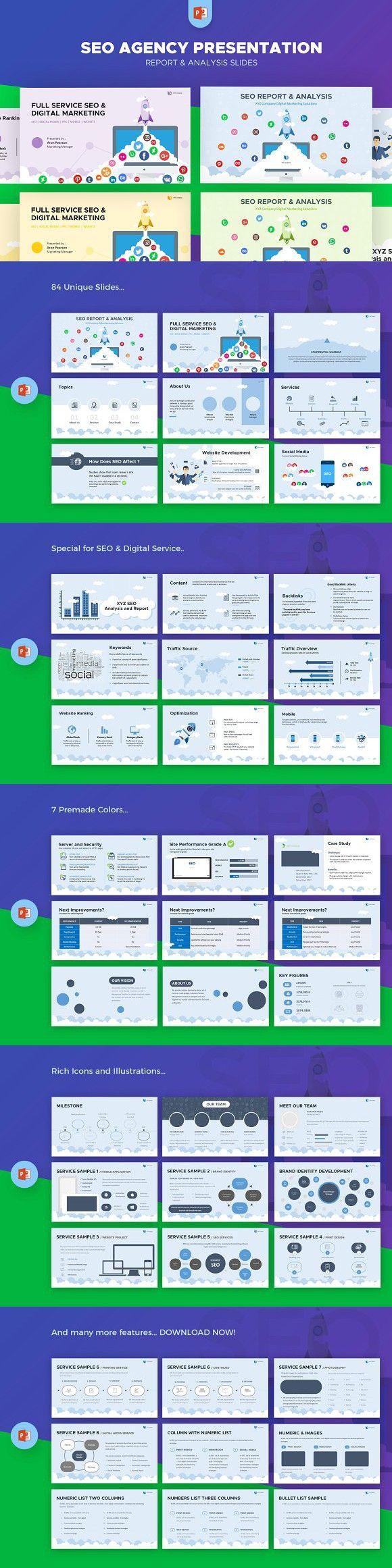 SEO Agency Report & Analysis. Presentation Templates