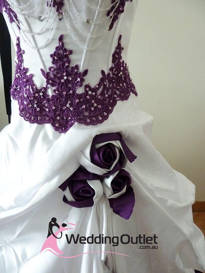 Dress Purple Wedding Gowns   Scarlett Purple and White Wedding Dress