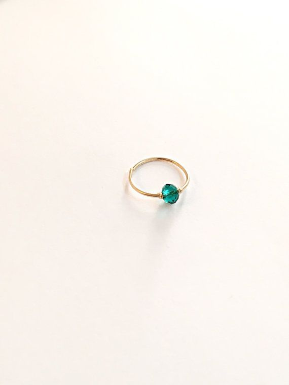 Gold cartilage ring tiny cartilage hoop small by FlowerRainbowNJ
