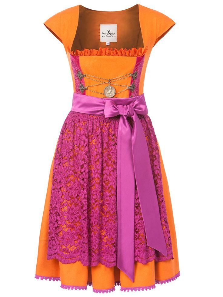 Dirndl orange pink von JAN&INA