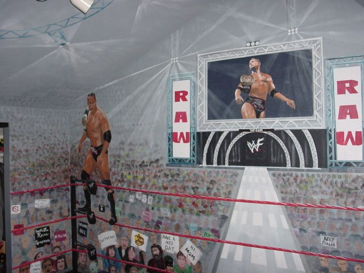 WWE Check Out The Awesome Murals On This Wrestling Fanu0027s Childhood Room