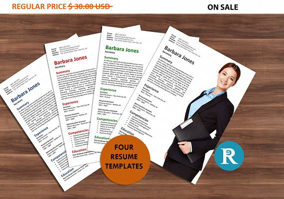 75% OFF SALE Four Office Secretary Resume Templates  Resume