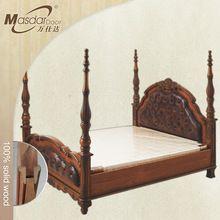 Hand carved furniture wooden bed design in Karachi