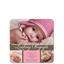 Graceful Cursive: Princess Birth Announcements