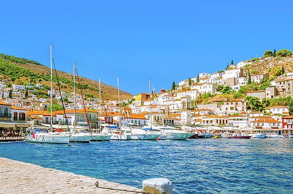 Jane Star Photograph - Beautiful Greek Island Hydra by Jane Star #JaneStar #Greece #Island Hydra #ArtForHome #InteriorDesign #HomeDecor