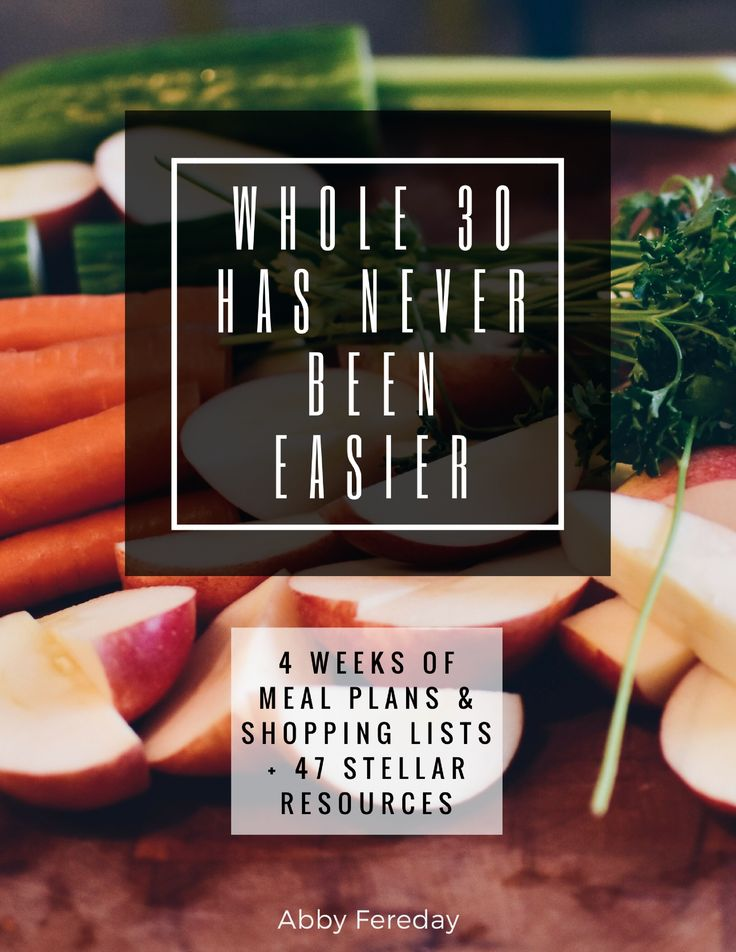 Starting Whole 30? Want 4 weeks of meal plans, grocery lists, and resources? Grab the Whole 30 Has Never Been Easier booklet today for only $1.99!