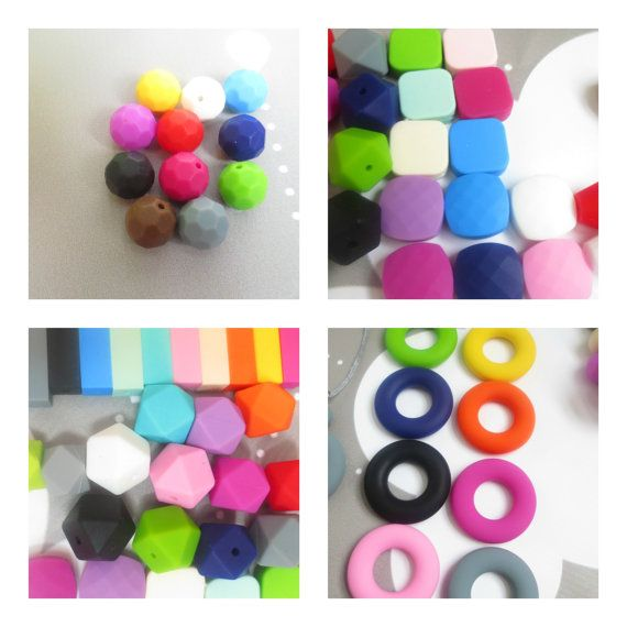 Custom Silicone Teething Necklace Teether Ring-----Info Listing ONLY