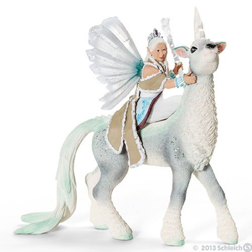 NEW-SCHLEICH-BAYALA-70471-Ice-Queen-Elf-Sunaya-her-Unicorn