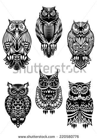 blank owl sugar skull template - Google Search