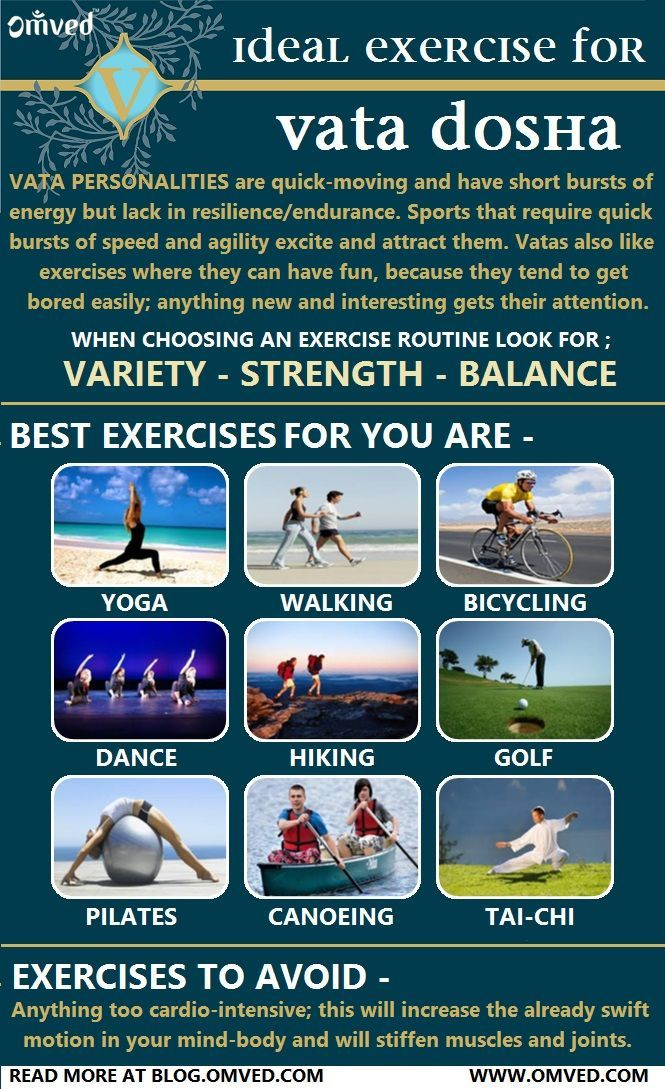 Vata Dosha – Ayurveda Ideal Exercises